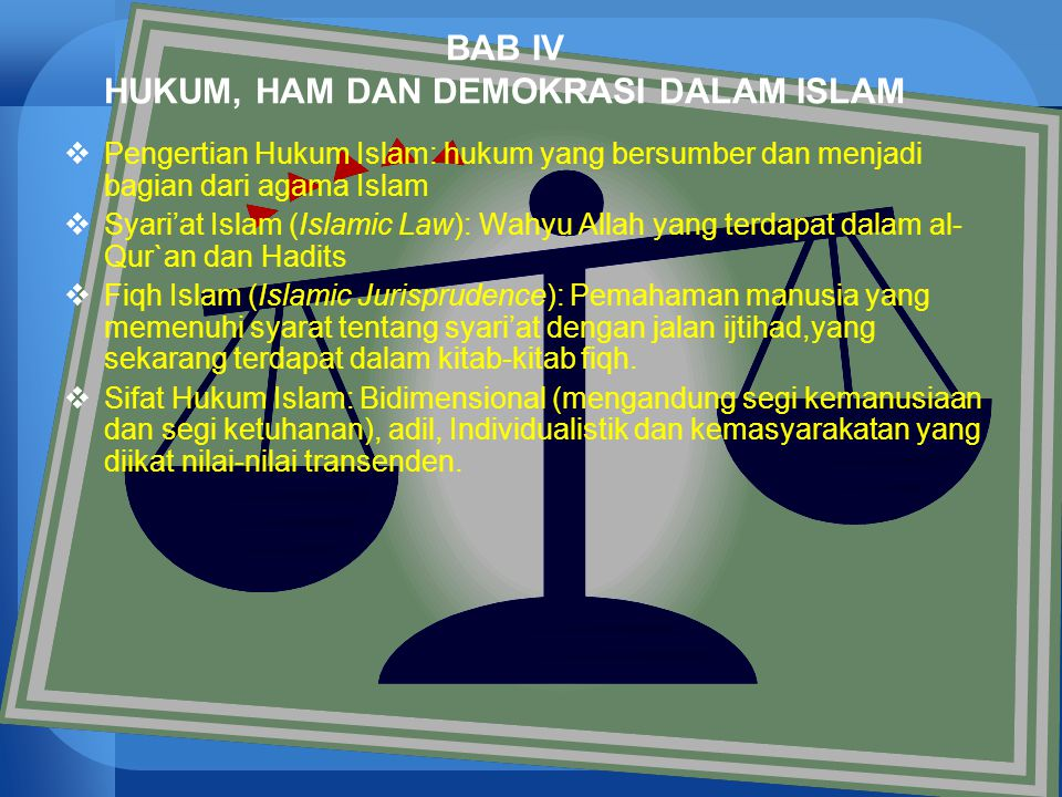 BAB IV HUKUM, HAM DAN DEMOKRASI DALAM ISLAM