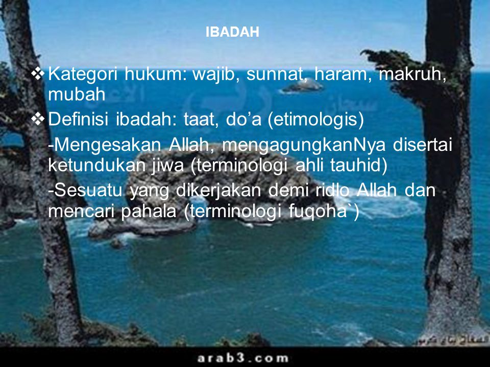 Kategori hukum: wajib, sunnat, haram, makruh, mubah