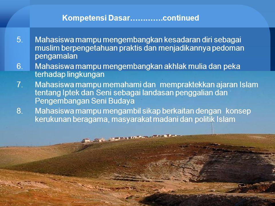 Kompetensi Dasar………….continued