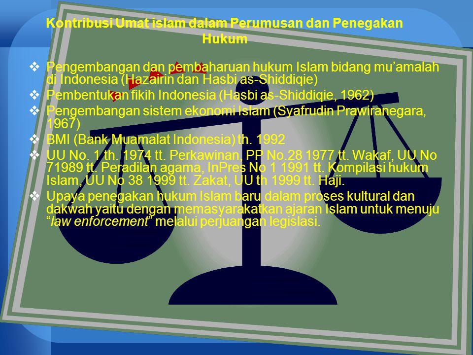 Kontribusi Umat islam dalam Perumusan dan Penegakan Hukum
