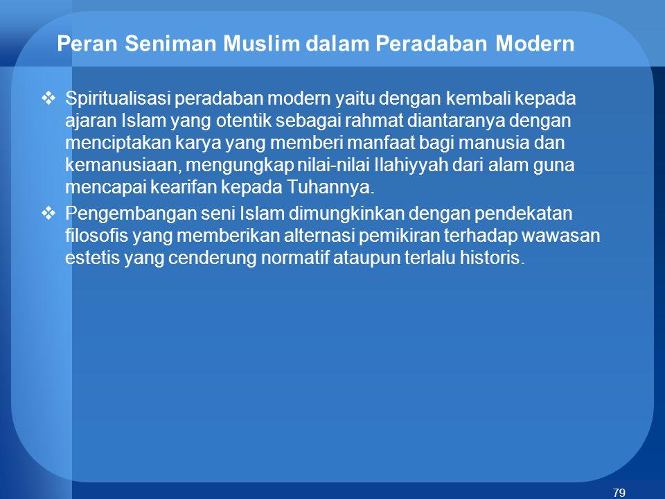 Peran Seniman Muslim dalam Peradaban Modern