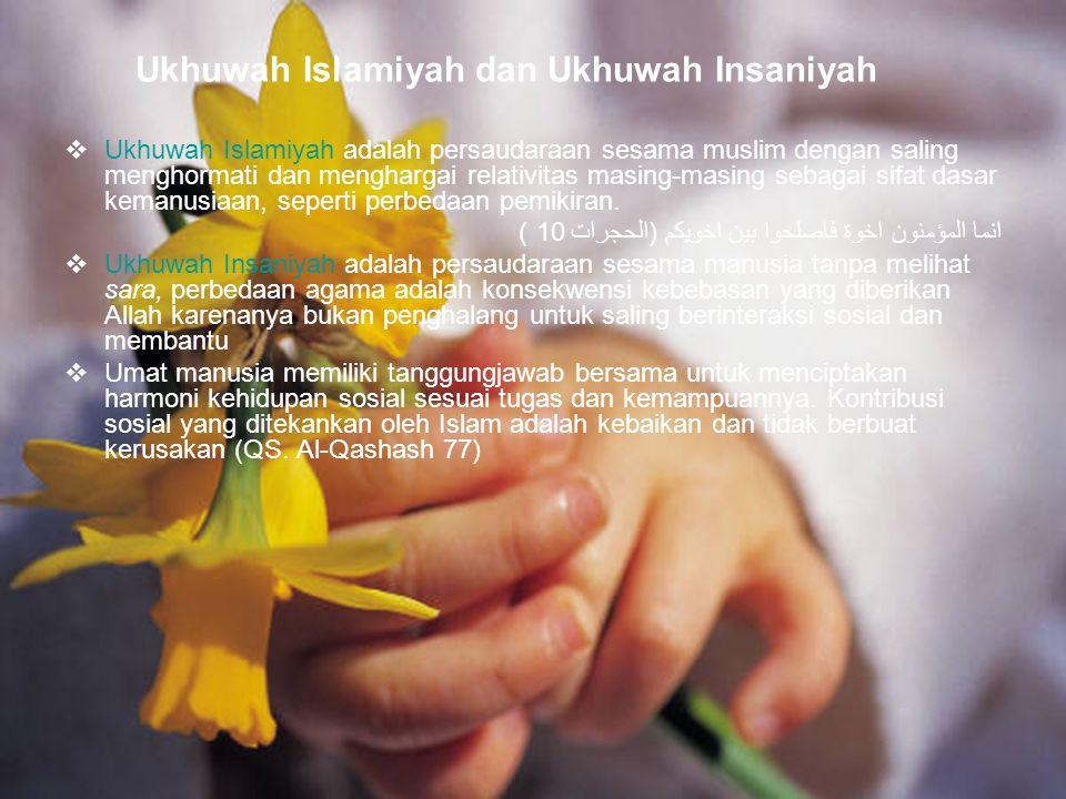 Ukhuwah Islamiyah dan Ukhuwah Insaniyah