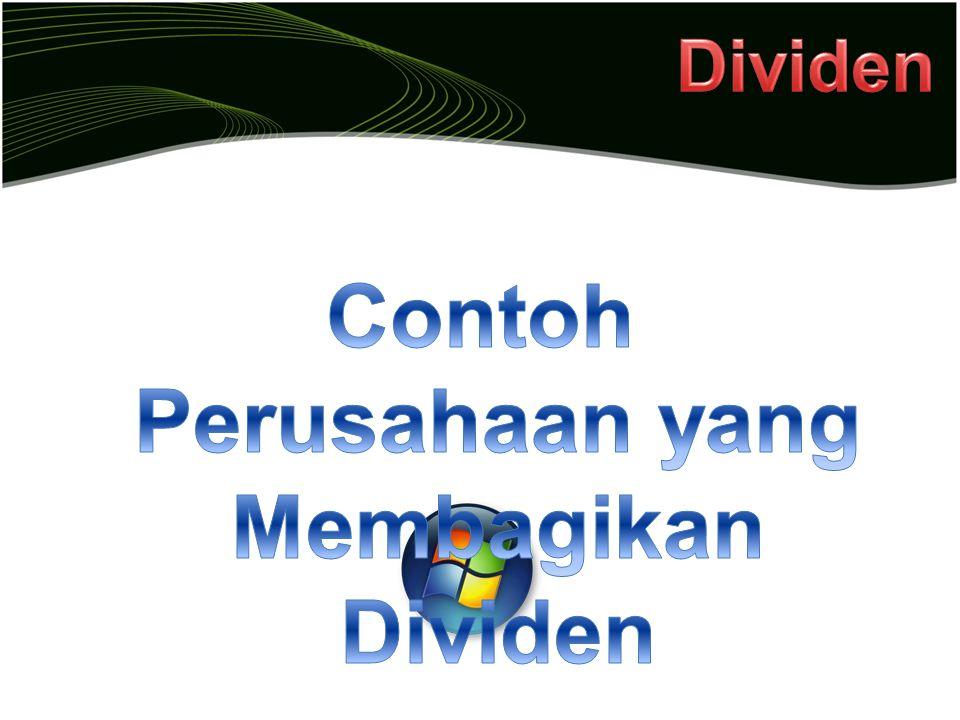 Contoh Perusahaan yang Membagikan Dividen