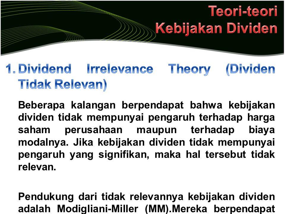 Teori-teori Kebijakan Dividen