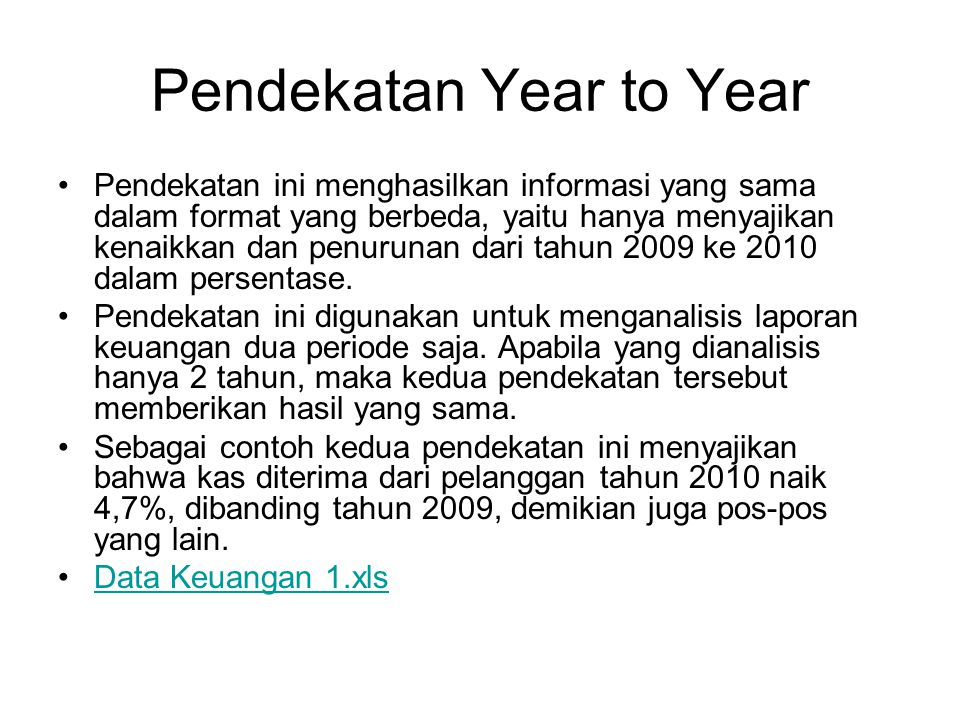 Pendekatan Year to Year