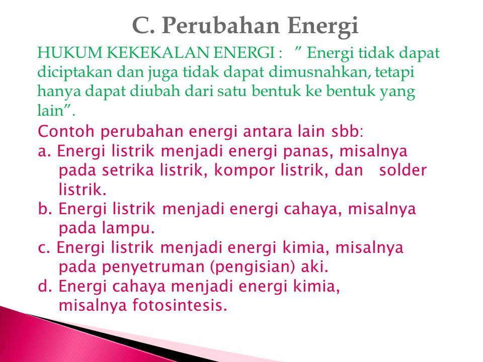 C. Perubahan Energi