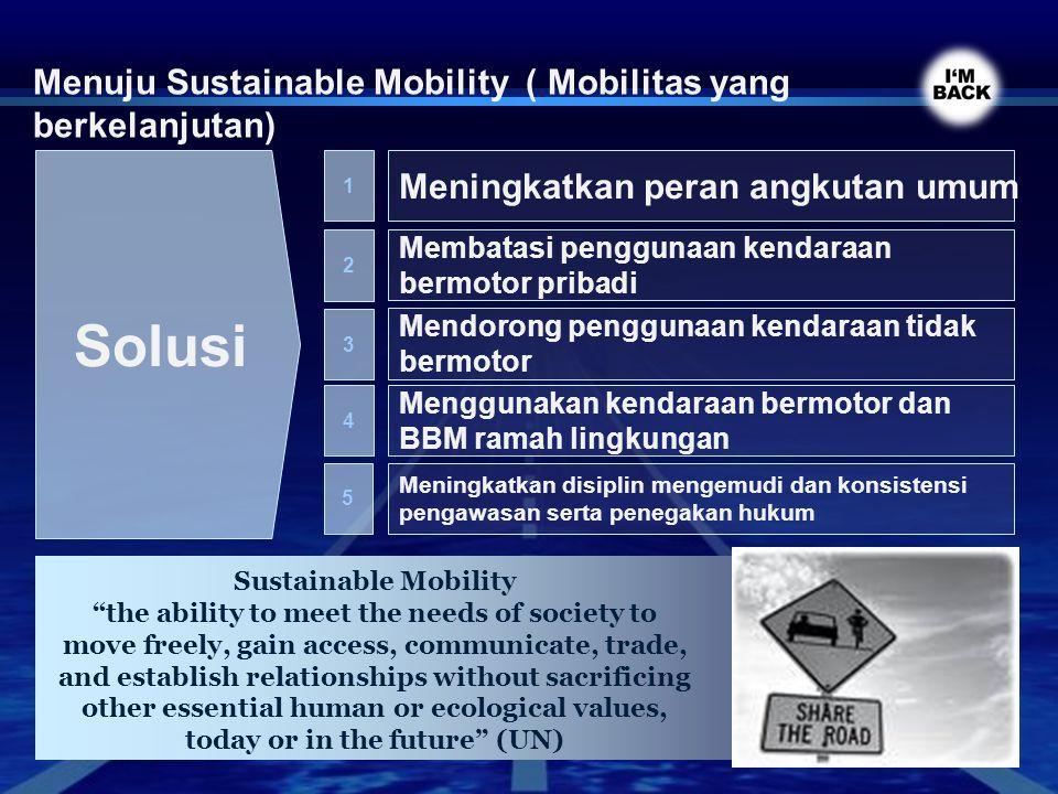 Solusi Menuju Sustainable Mobility ( Mobilitas yang berkelanjutan)