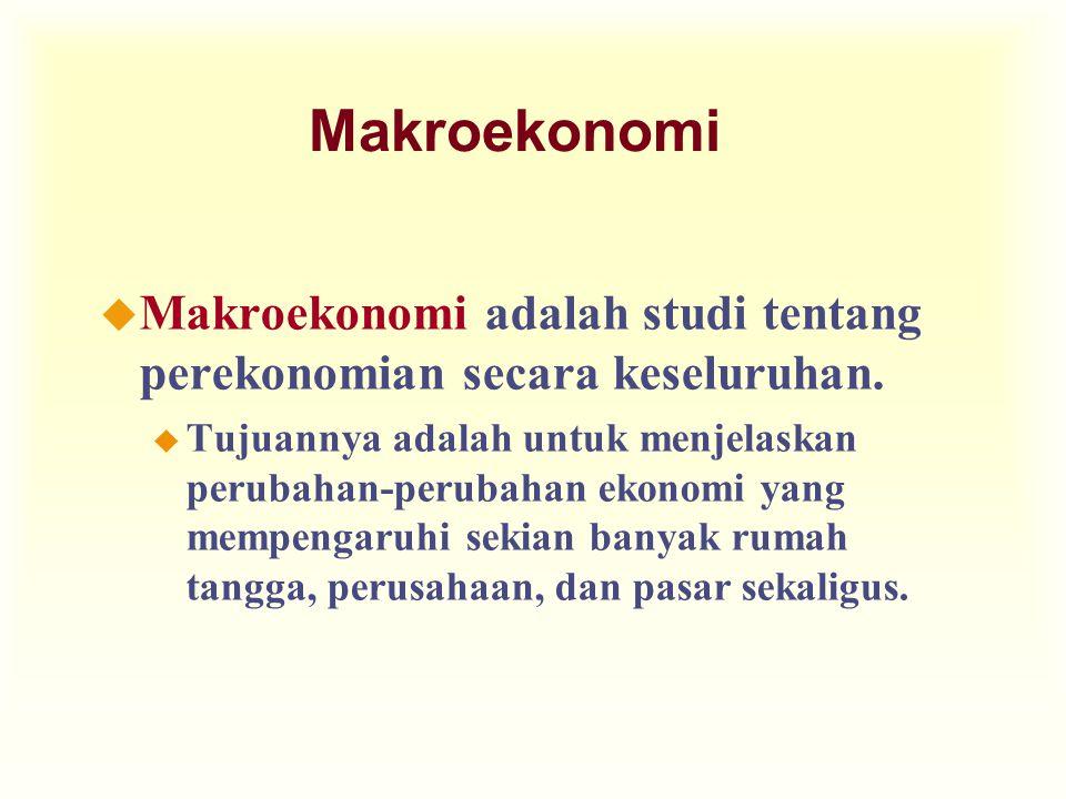 Makroekonomi Makroekonomi adalah studi tentang perekonomian secara keseluruhan.