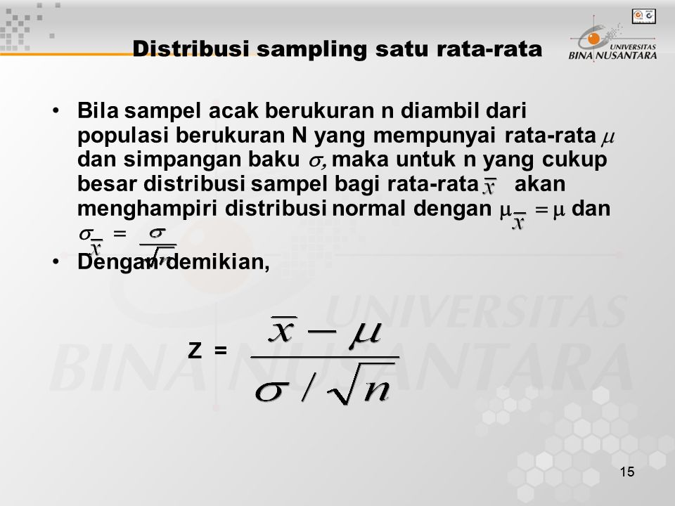 Distribusi sampling satu rata-rata