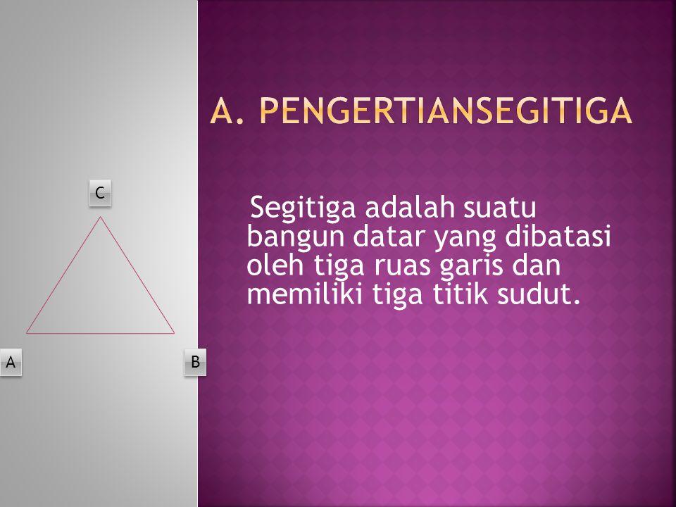 A. Pengertiansegitiga C A B
