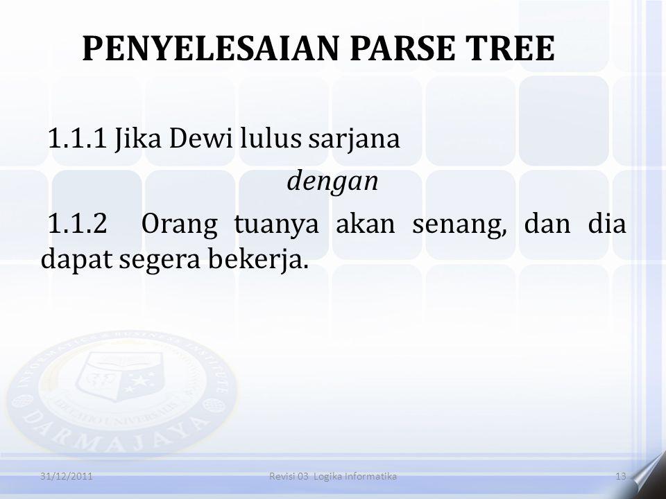 PENYELESAIAN PARSE TREE