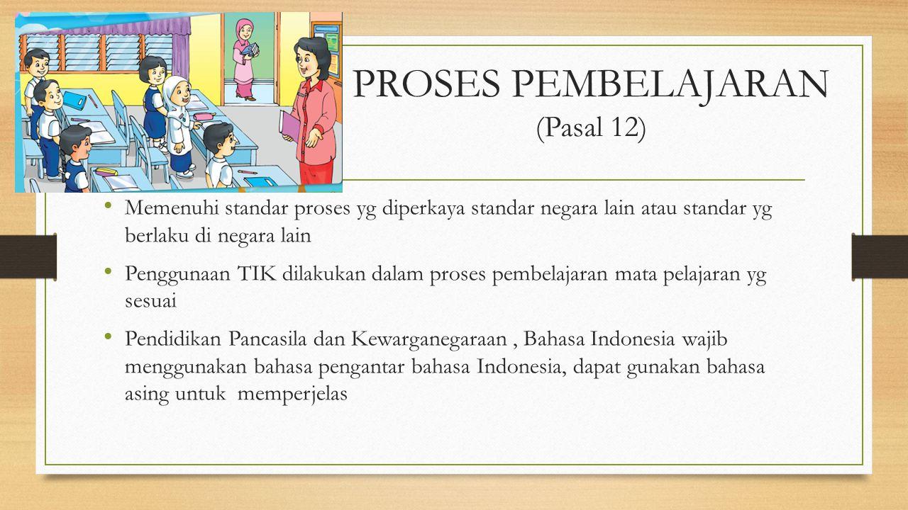 PROSES PEMBELAJARAN (Pasal 12)