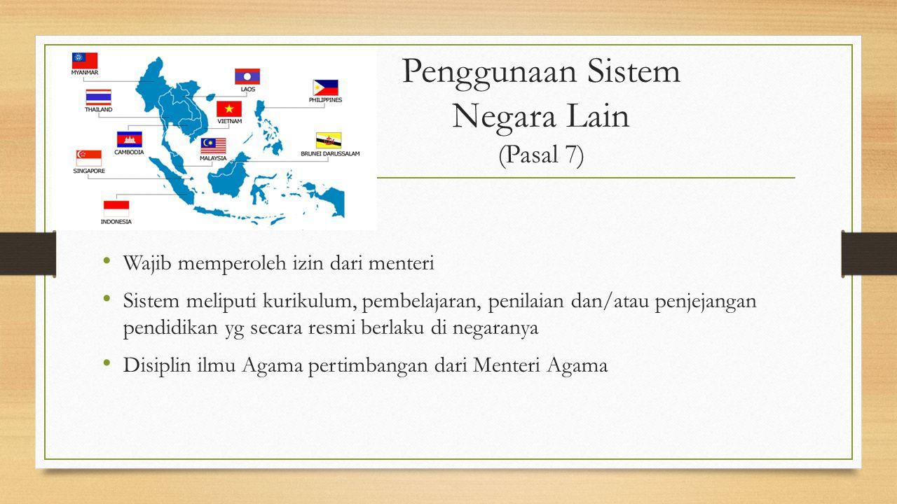 Penggunaan Sistem Negara Lain (Pasal 7)