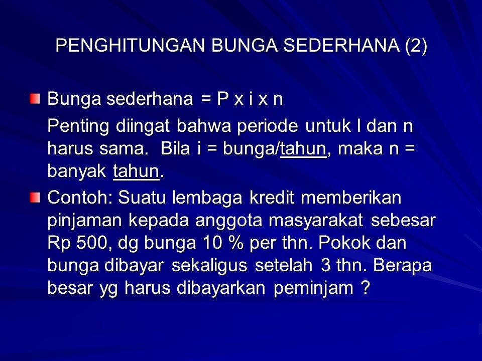 PENGHITUNGAN BUNGA SEDERHANA (2)