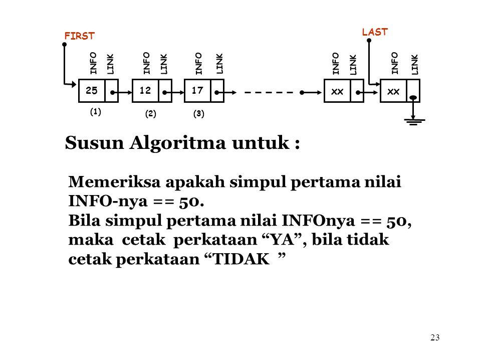 Susun Algoritma untuk :