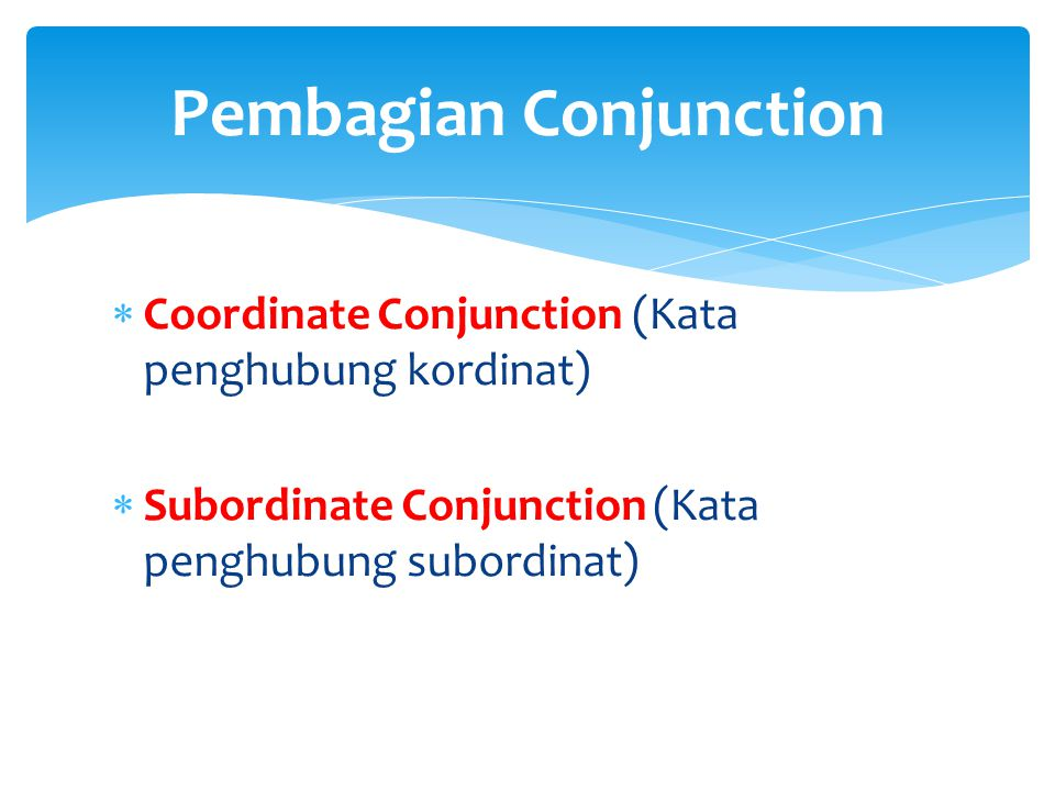 Pembagian Conjunction
