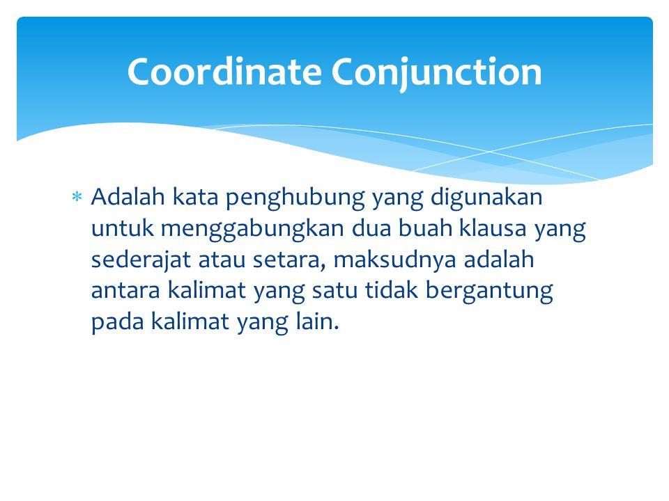 Coordinate Conjunction