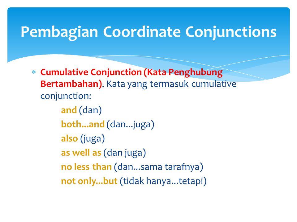 Pembagian Coordinate Conjunctions