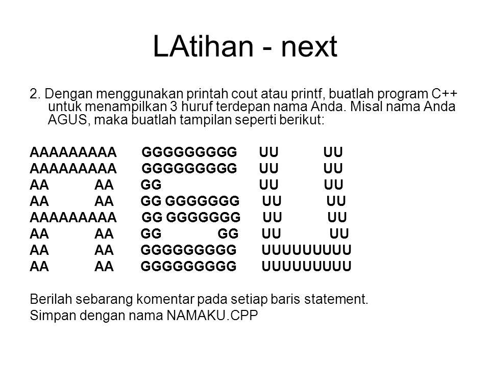 LAtihan - next