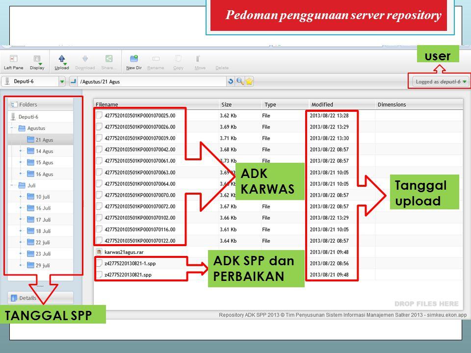 Pedoman penggunaan server repository