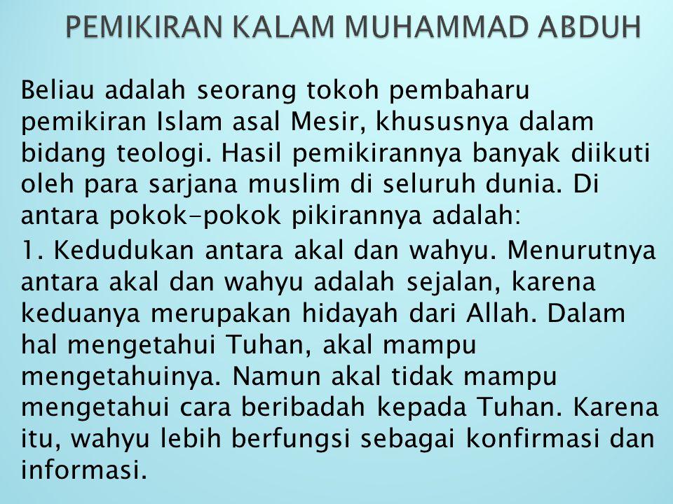PEMIKIRAN KALAM MUHAMMAD ABDUH