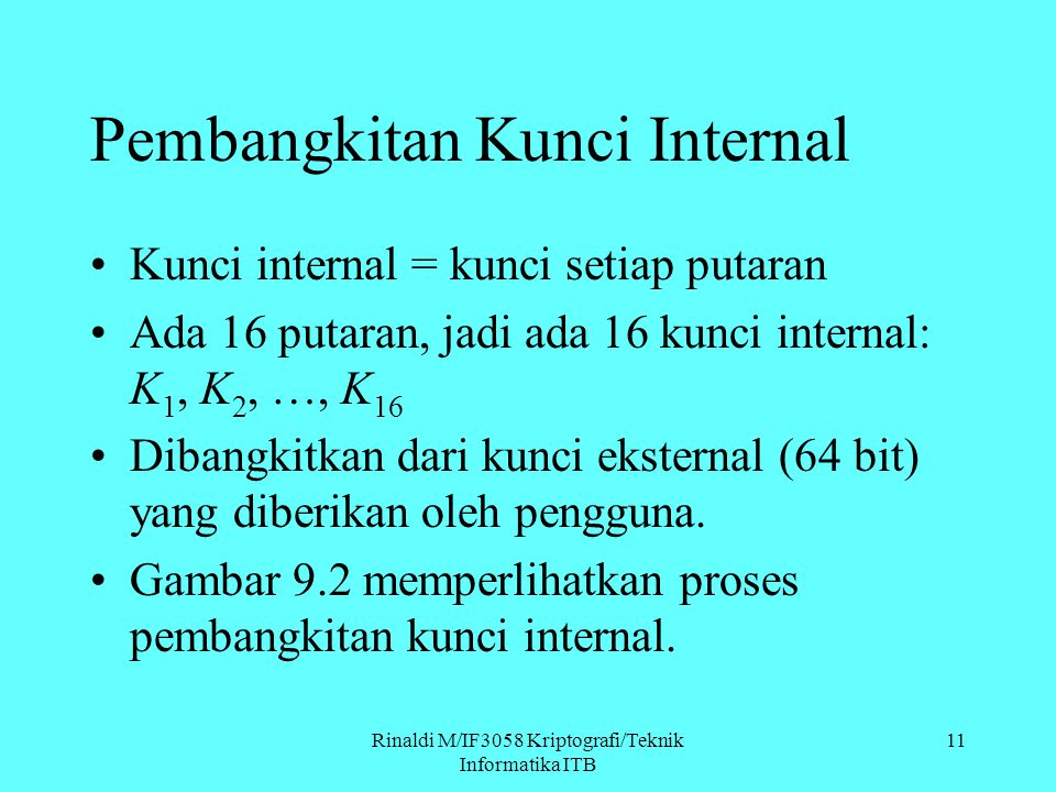 Pembangkitan Kunci Internal
