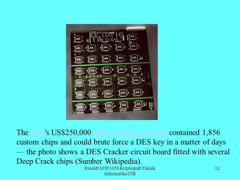 Rinaldi M/IF3058 Kriptografi/Teknik Informatika ITB