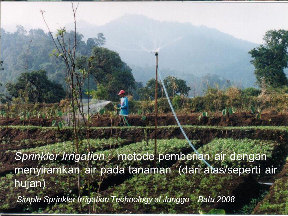 Simple Sprinkler Irrigation Technology at Junggo – Batu 2008