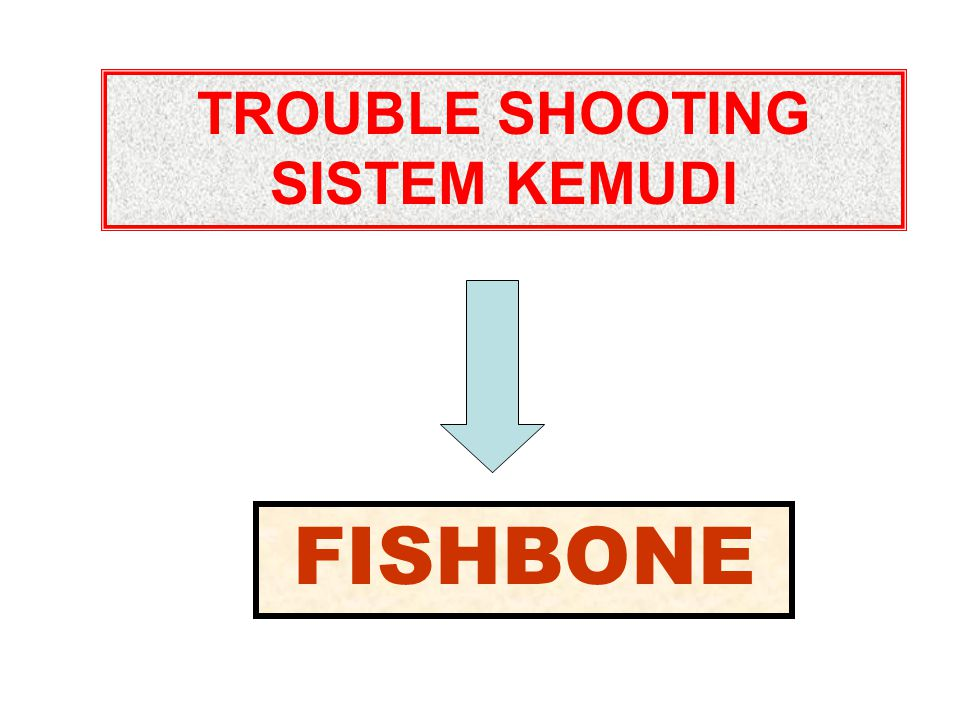 TROUBLE SHOOTING SISTEM KEMUDI FISHBONE