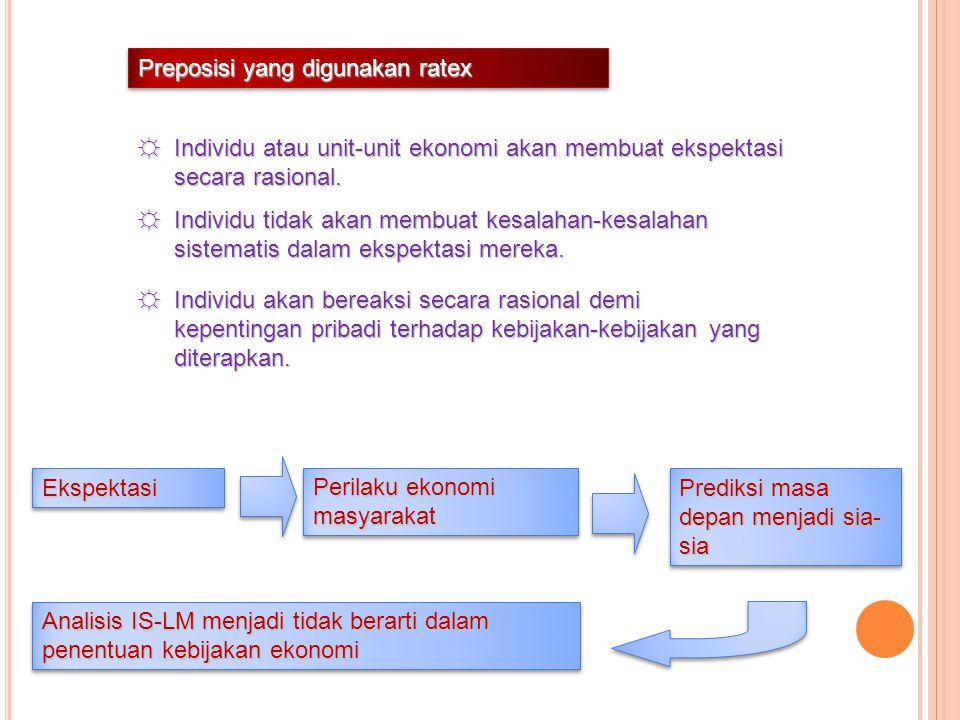 Preposisi yang digunakan ratex