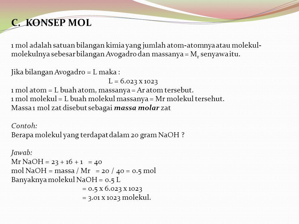 C. KONSEP MOL