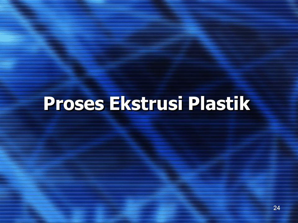 Proses Ekstrusi Plastik