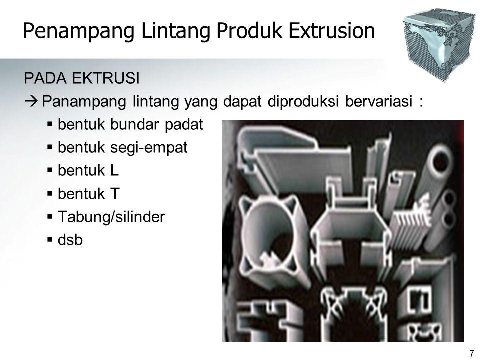 Penampang Lintang Produk Extrusion