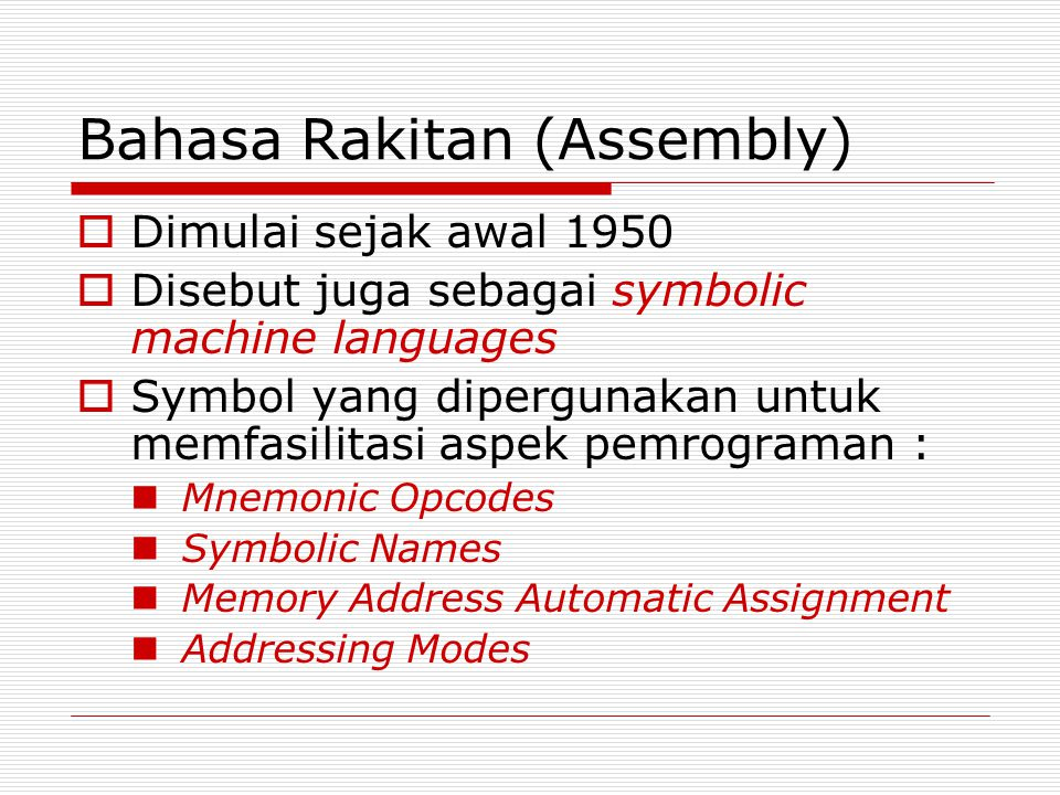 Bahasa Rakitan (Assembly)