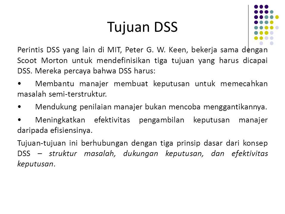 Tujuan DSS