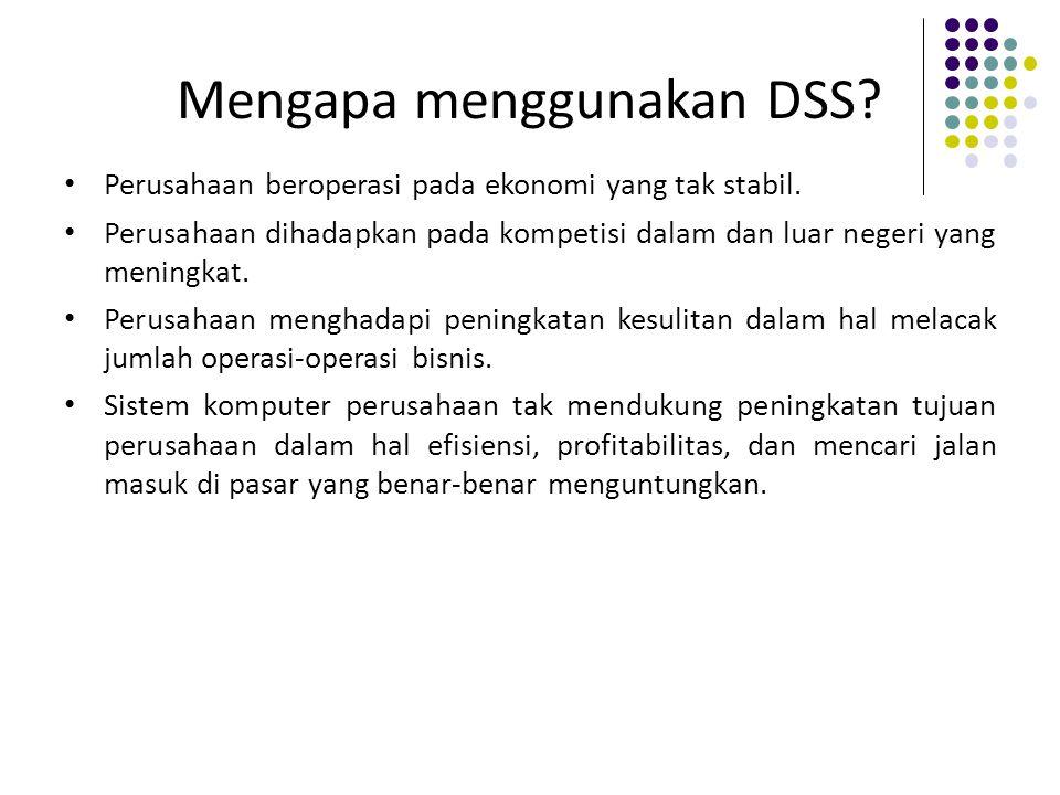 Mengapa menggunakan DSS