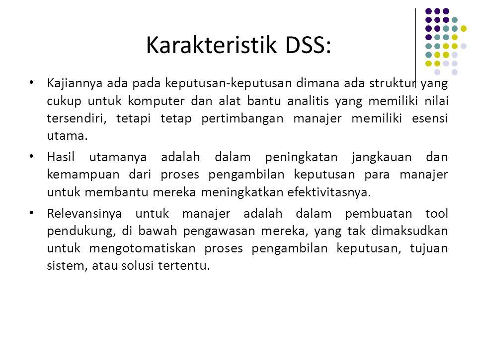 Karakteristik DSS: