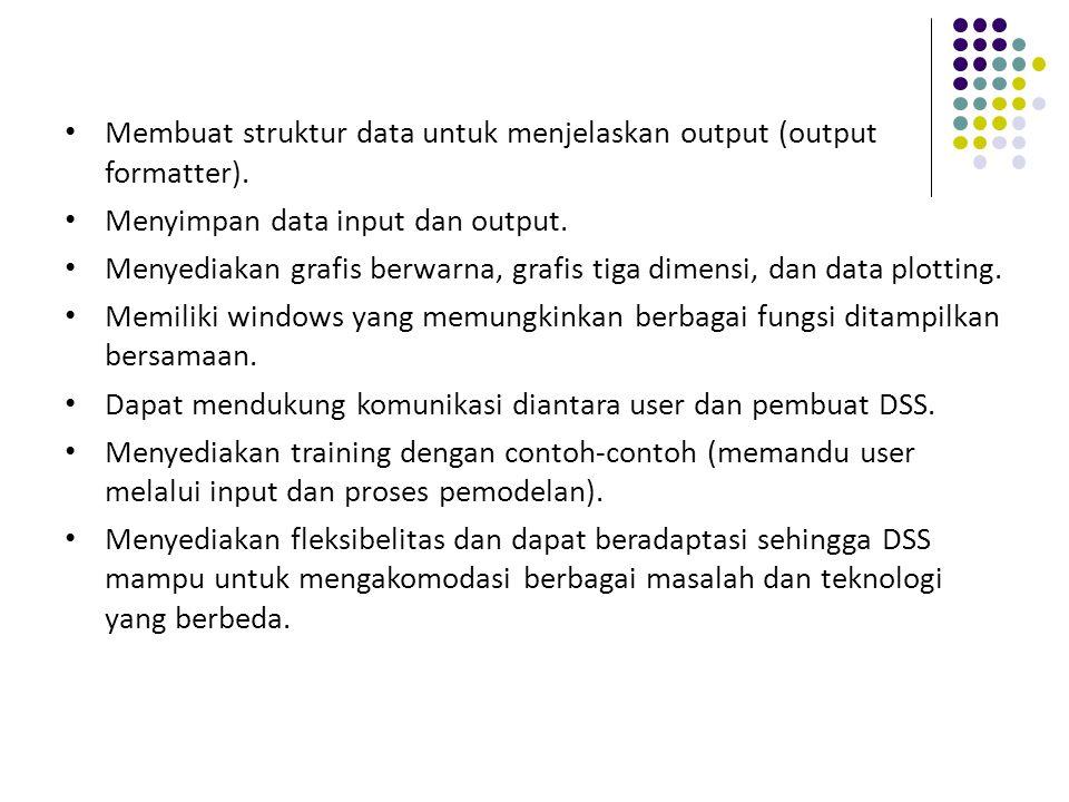 Membuat struktur data untuk menjelaskan output (output formatter).