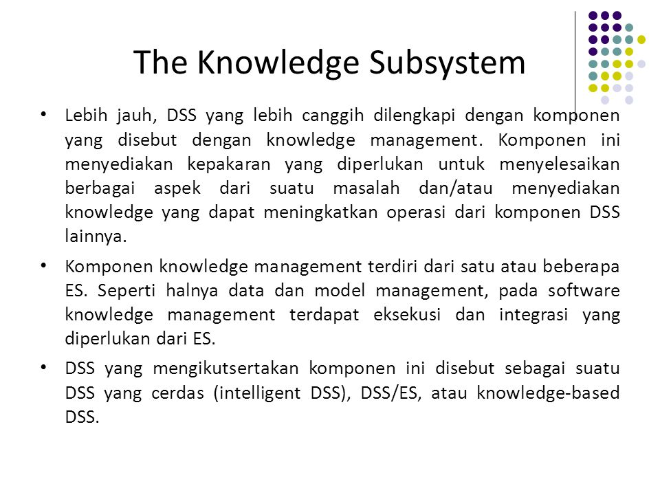 The Knowledge Subsystem