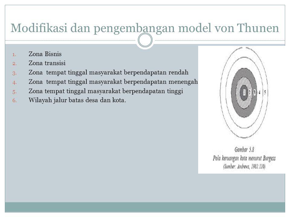 Modifikasi dan pengembangan model von Thunen