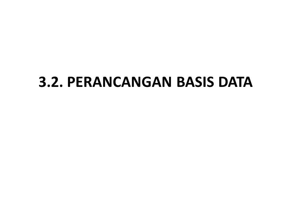 3.2. PERANCANGAN BASIS DATA