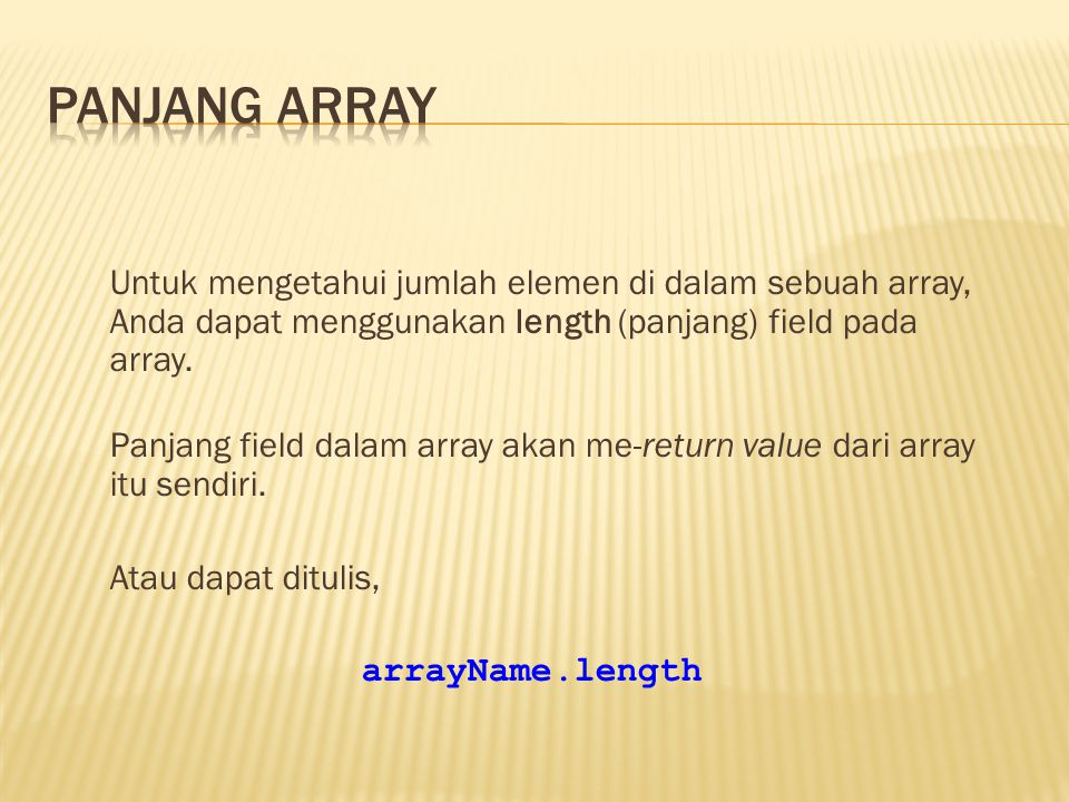 Panjang array
