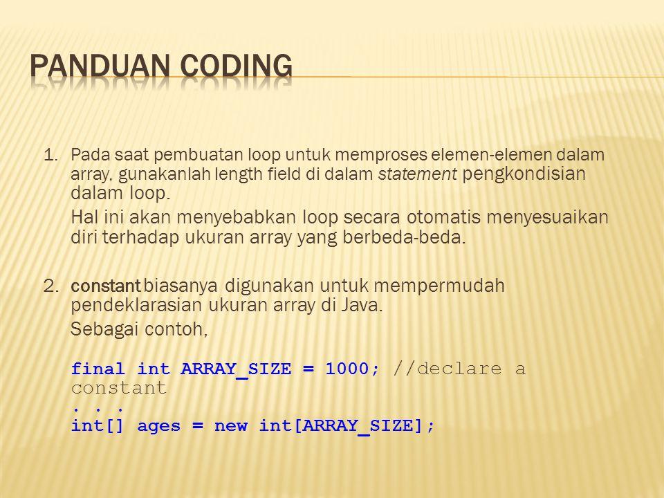 Panduan coding