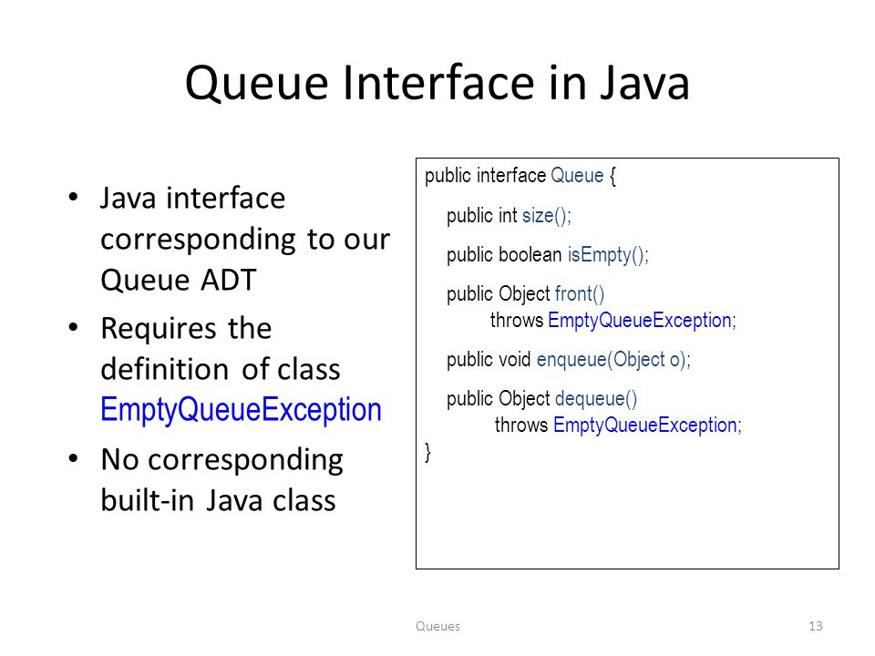 Queue Interface in Java
