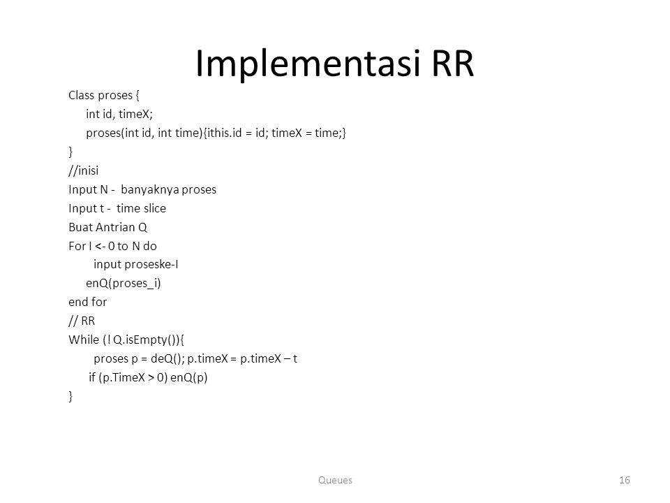 Implementasi RR