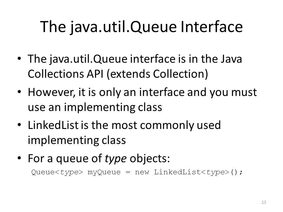 The java.util.Queue Interface