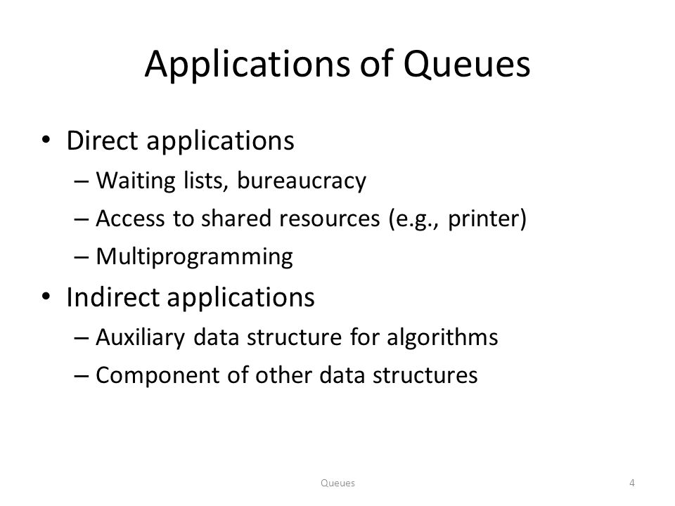 Applications of Queues
