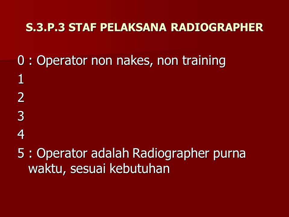 S.3.P.3 STAF PELAKSANA RADIOGRAPHER