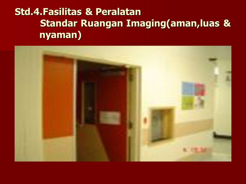 Std. 4. Fasilitas & Peralatan Standar Ruangan Imaging(aman,luas &