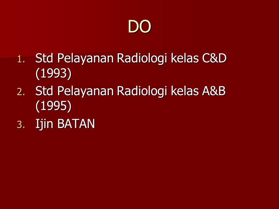 DO Std Pelayanan Radiologi kelas C&D (1993)
